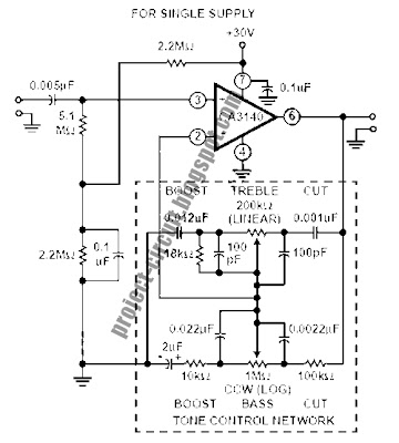electronics technology tone control circuits using ca3140 simple tone control circuit tone control circuit