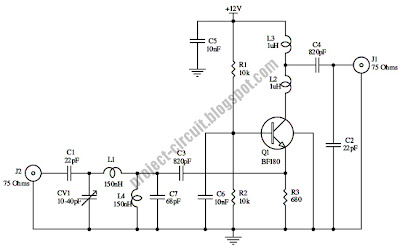 Free Project Circuit Diagram: 15dB UHF TV Antenna Booster Circuit on microphone wiring diagram, charger wiring diagram, speaker wiring diagram, radio wiring diagram, power supply wiring diagram, battery wiring diagram, control box wiring diagram, cctv wiring diagram, usb cable wiring diagram, lowrance gps wiring diagram, switch wiring diagram, coaxial cable wiring diagram, pump wiring diagram, starter wiring diagram, standard horizon wiring diagram, network cable wiring diagram, horn wiring diagram, pc wiring diagram, instrument wiring diagram, lights wiring diagram,