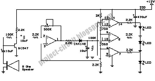electronics technology  decibel sound pressure level meter