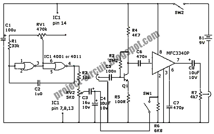 simple tone control circuit diagram