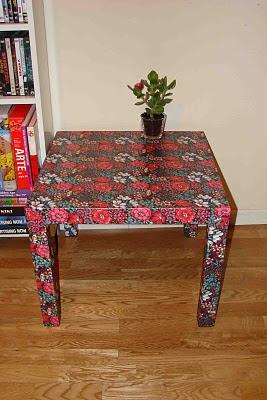 Ikea hack mesa lack con papel de regalo - Ikea mesa lack blanca ...