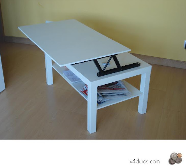 Ikea hack convertir la mesa lack en mesa elevable - Como hacer una mesa abatible ...
