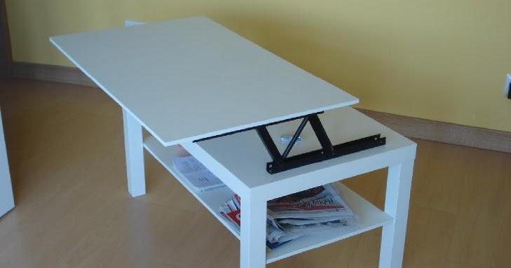 Ikea hack convertir la mesa lack en mesa elevable - Mesa lack ikea medidas ...