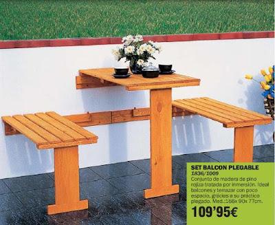 Muebles de exterior para balcones peque os for Mobiliario para terrazas pequenas