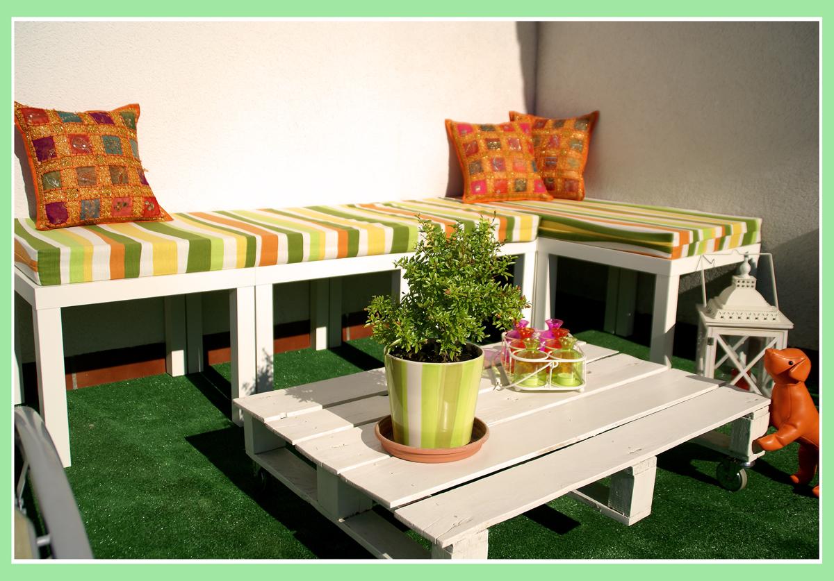 El banco de terraza de haruki con mesas lack - Banco exterior ikea ...