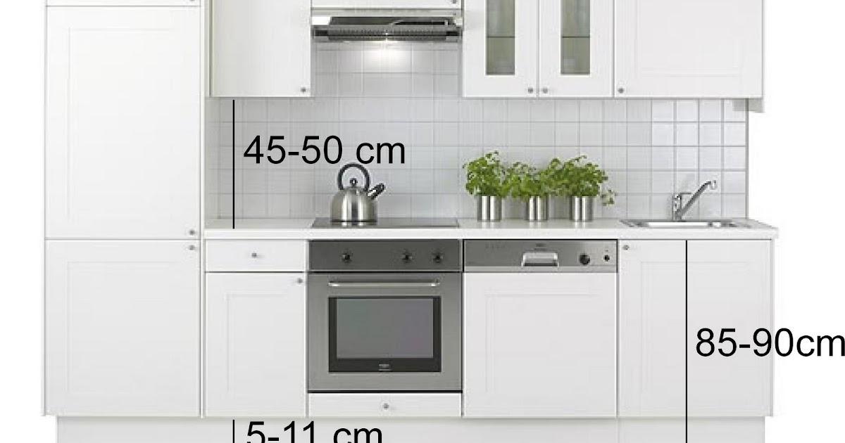 Reformar la cocina distancias medidas y dimensiones a for Dimensiones muebles de cocina