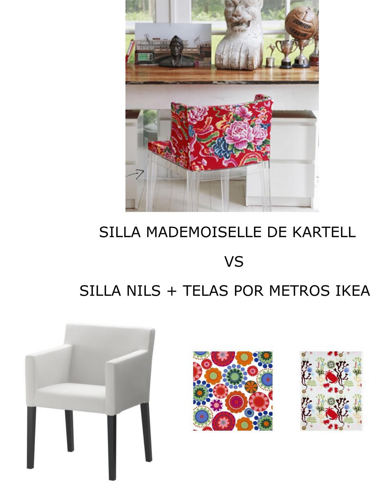 Parecidos razonables sillas mademoiselle de kartell vs silla nils ikea - Sillas con reposabrazos ikea ...