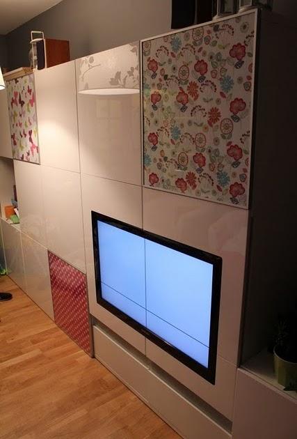 Ikea hack integra la tv en un mueble besta for Mueble tv ikea