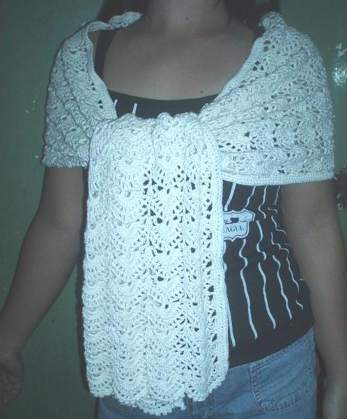 Crochet Lace Scarf Wrap Shawl PDF Pattern by rensfibreart on Etsy