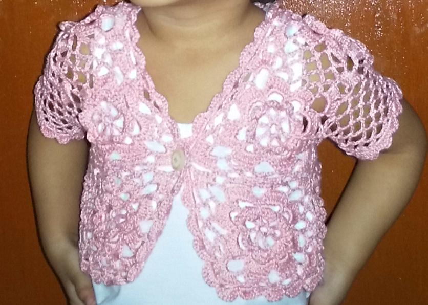 Crochet Bolero Pattern : Girlies Crochet: Pink Bolero for 2 year old