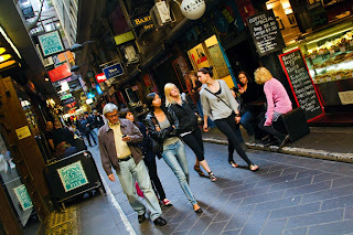 Degraves Street in Melbourne, Australia