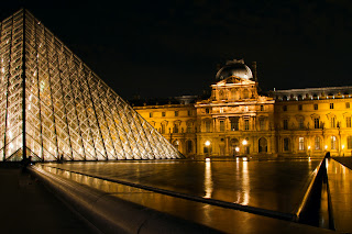 The forecourt of the Louvre - Paris, France