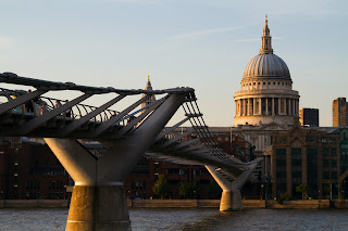 St Paul's Cathedral and the Millennium Bridge - London