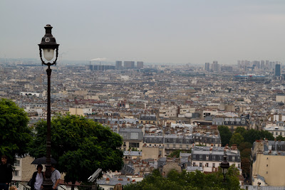 A view of Paris from Sacre Coeur - Paris, France