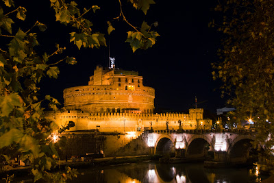 Castel Sant Angelo across the Tiber - Rome, Italy