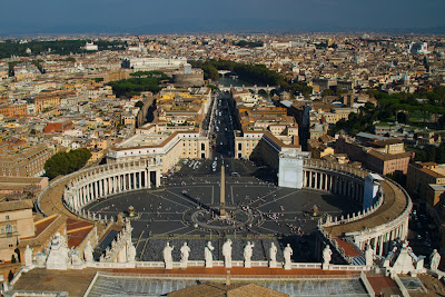 St Peters Square from the Basilica - Vatican City