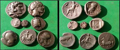 Greek Silver Coins- Alexander the Great, Athenian Owl Tetradrachma, Aigina Turtle Stater, Ionia Miletos Lion Trihemiobol, Syracuse Stater Pegasus