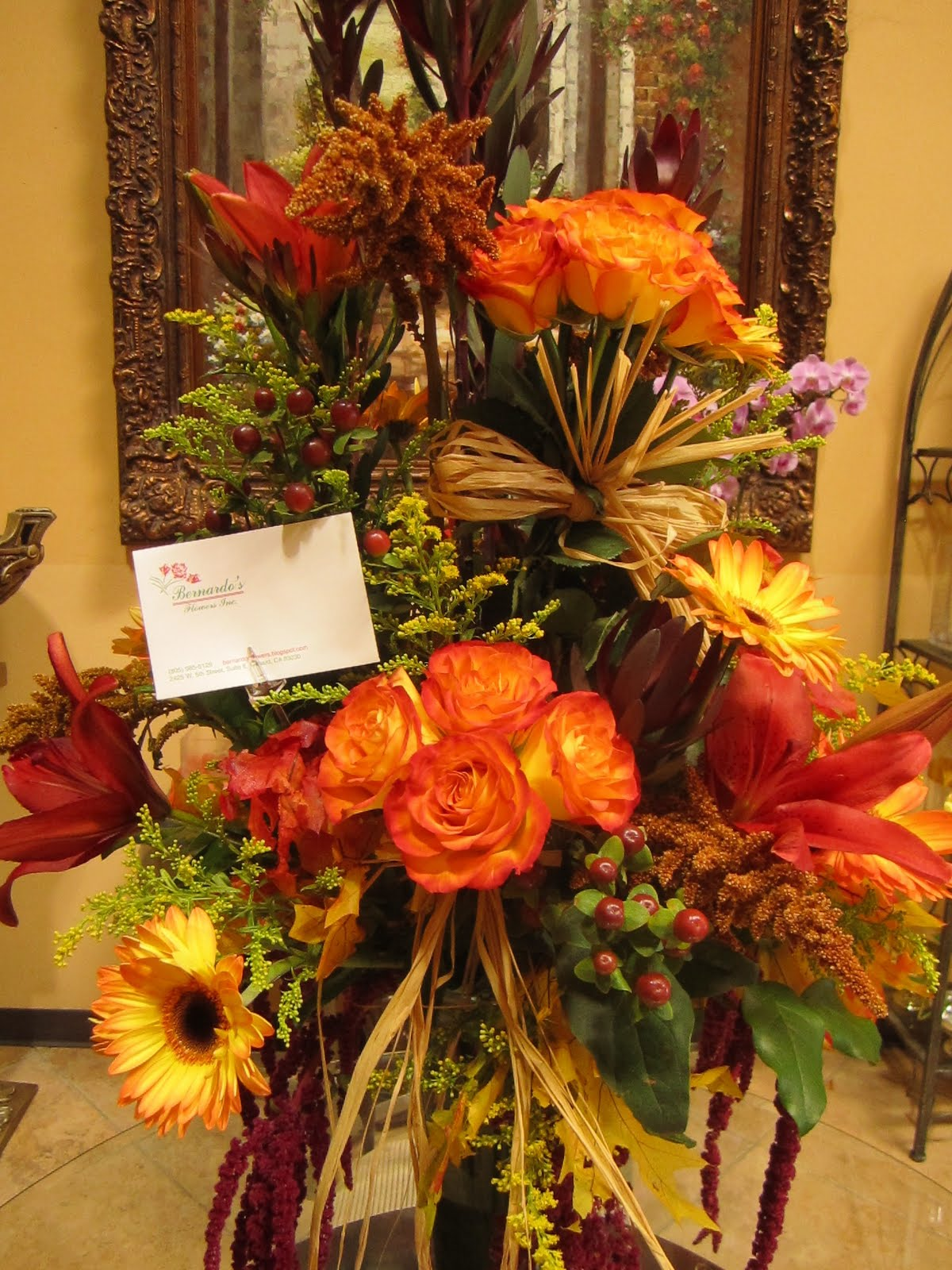 Bernardo 39 S Flowers Thanksgiving Buffet Table Flower
