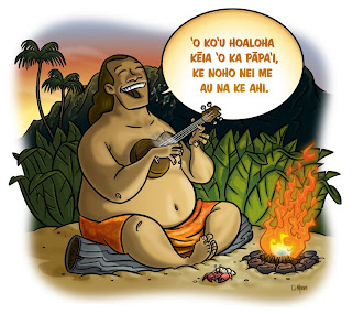 Danny Moore Illustration Hawaii Ukulele Singer
