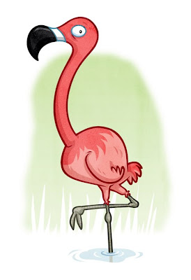 Danny Moore Illustration Flamingo