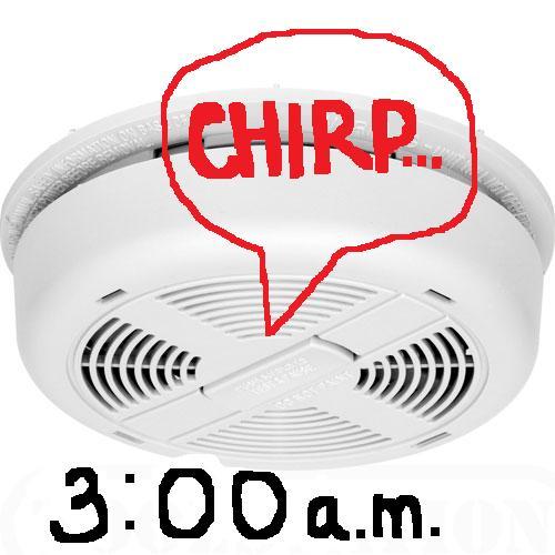 smoke detector chirping