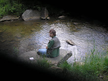 Joey fishing wild trout at Thundershower Run, McKean County, Pennsylvania June 2008