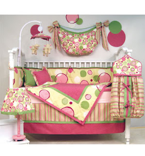 Baby Bedding deal of baby bedding pieces of various colors as well as