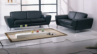Contemporary Sofa Sets Julie Contemporary Sofa Set with Italian Leather