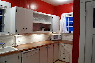 Red Kitchen Paint After much debate I decided to paint my kitchen red