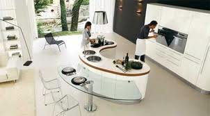 Luxury Kitchen two tier island. Lighting. Look up