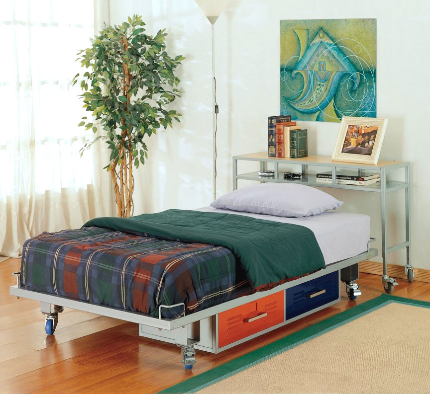 Boys Twin Bedroom Ideas Photos  Teen Trends Boys Twin Bed Set - Teen Trends, Metal Frame
