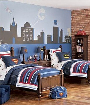 Boys Room I've got to convince one of my 3 boys to have a super hero