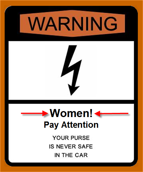warning to women pumping gas