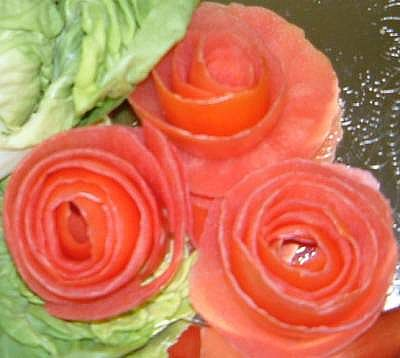 garnish into a rose