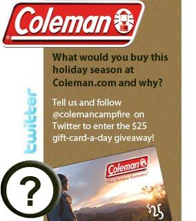 Coleman Giveaway