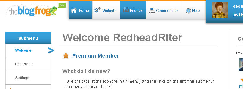 The Redhead Riter's BlogFrog Community