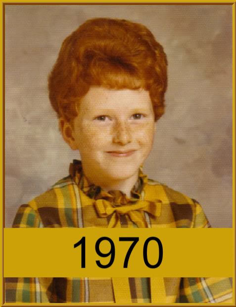 The Redhead Riter in 2nd grade, 1970