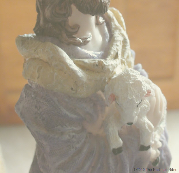 Jesus carrying the lamb