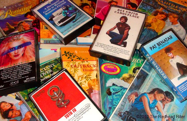 Harlequin Romances and cassette tapes