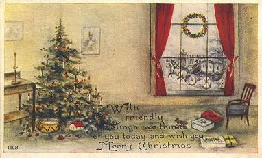 Fossestua Vintage Julekort Til Deg