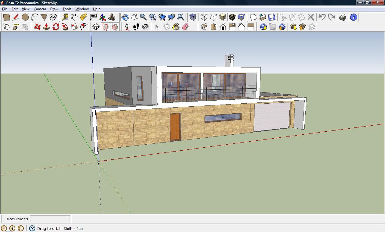 Cria es sketchup casa panoramica for Casa moderna sketchup download