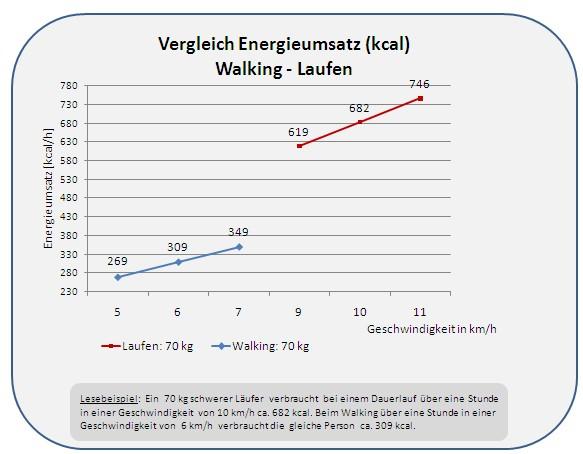energieumsatz ausdauersport laufen und walking vergleich energieumsatz kalorienverbrauch. Black Bedroom Furniture Sets. Home Design Ideas