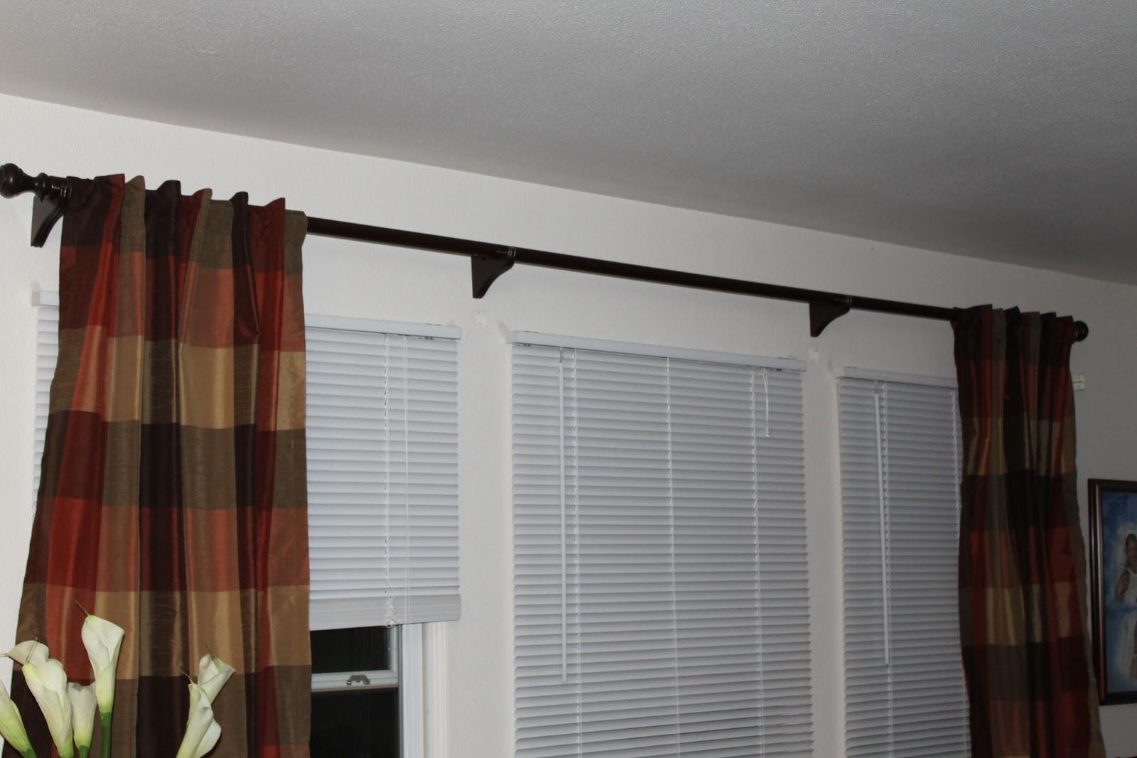 diy diva 75 curtain rod for less than 15 tutorial. Black Bedroom Furniture Sets. Home Design Ideas
