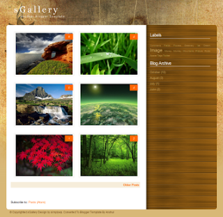 Best Photo Gallery Blogger Templates