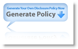 Easily Create a Disclosure Policy for your site!