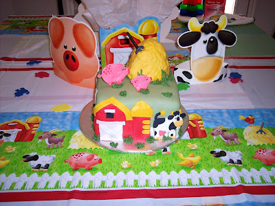 Farm Birthday Party Supplies on Layers Of Love  First Birthday Farm Cake