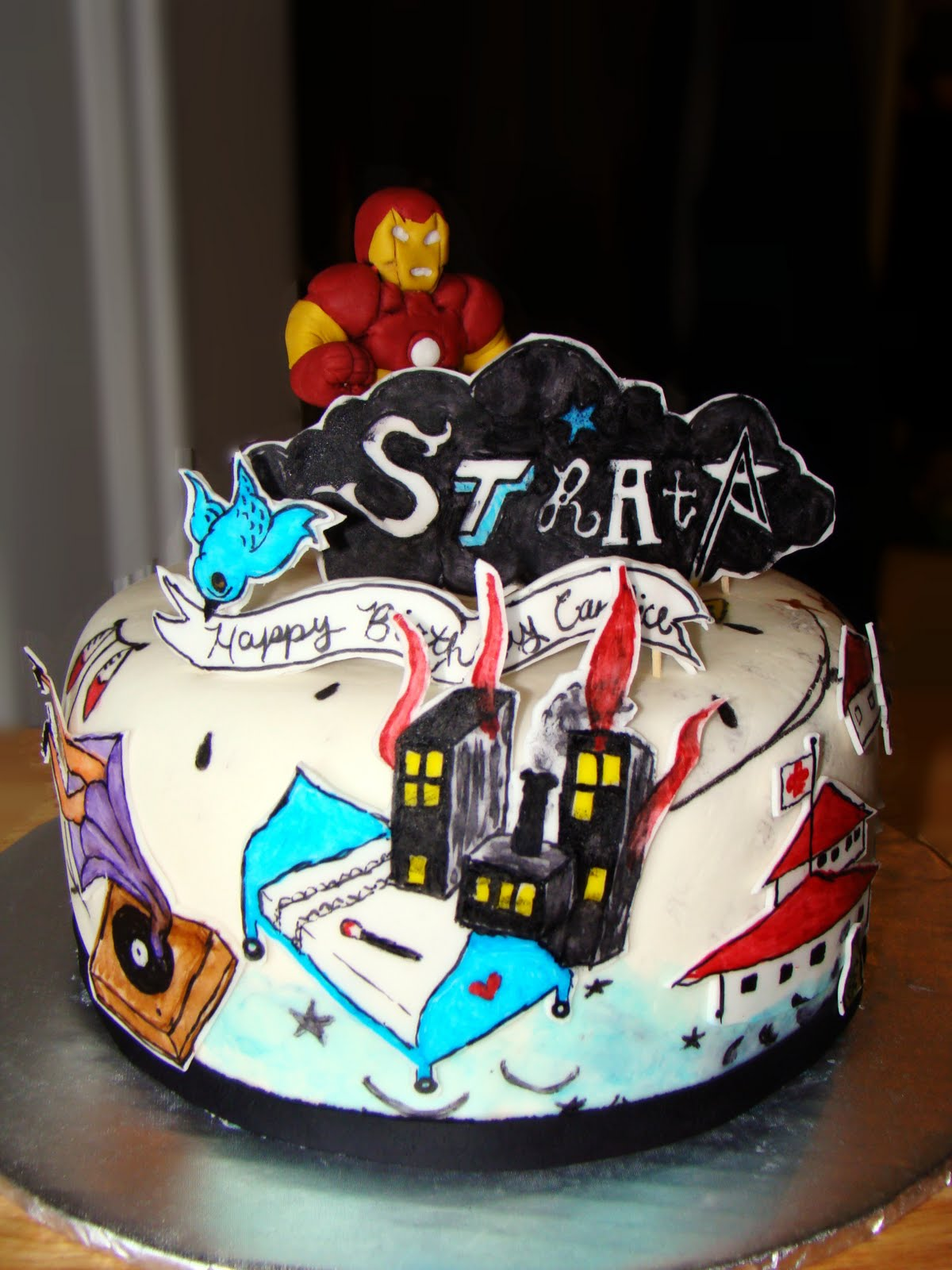 Layers of Love StrataIron Man cake