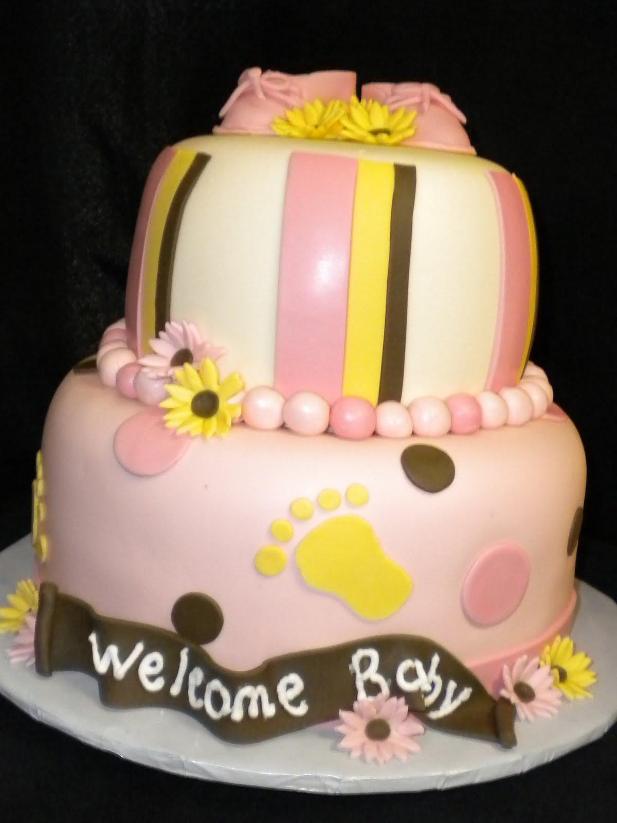 Baby Shower Cakes Utah ~ Layers of love booties baby shower cake