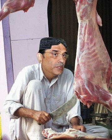 Asif Zardari as Butcher