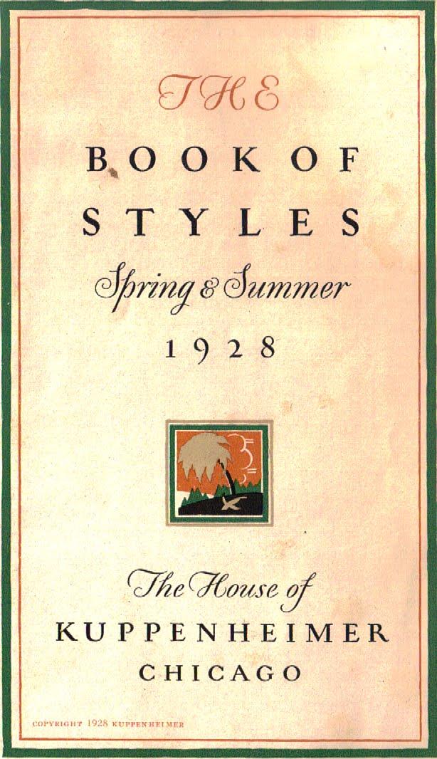 Fine And Dandy Shop Haberdashery Finds Kuppenheimer 1928 Book Of